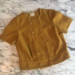 ANTHROPOLOGIE Gidra mustard blazer sz 10